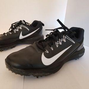 Nike Lunarlon Golf Shoes Blk/White Sz 10M